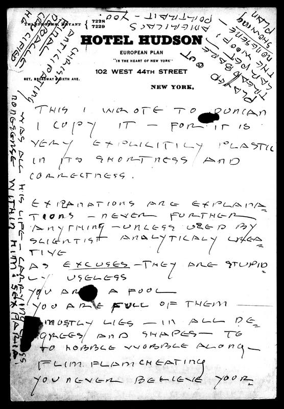 Letter to Charles Duncan
